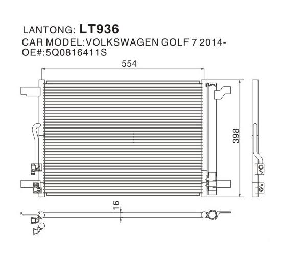 LT936 (VOLKSWAGEN 5Q0816411S)